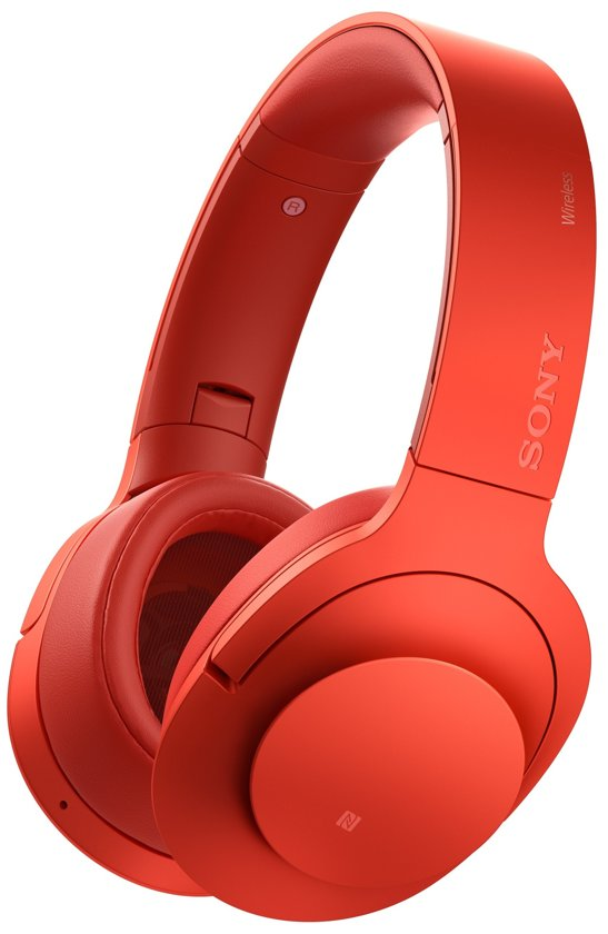 Sony h.ear MDR-100ABN - Draadloze Hi-Res audio over-ear koptelefoon met Noise Cancelling- Rood