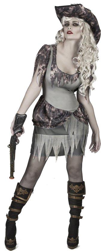 2e5c3e22ab87c5 Grijs spook piraat kostuum voor vrouwen - Verkleedkleding - Maat L
