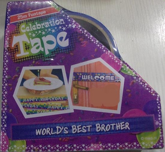 Funtape World's best brother - afzetlint broer - 25m