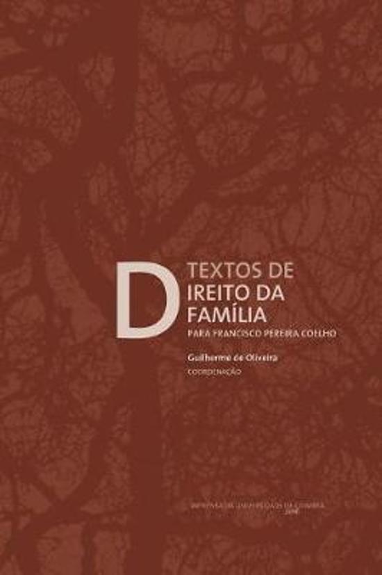 Boek cover Textos de Direito Da Fam lia van Guilherme de Oliveira (Paperback)