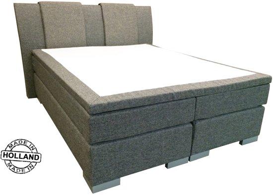 Slaaploods.nl Zeus - Boxspring inclusief matras - 180x200 cm - Grijs