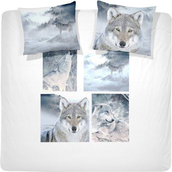 Damai Dekbedovertrekset katoen 240 x 200/220 cm wolves grey