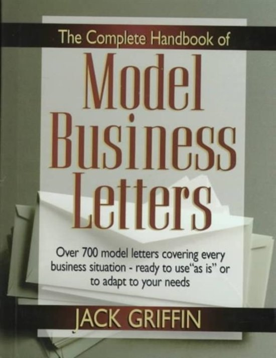 Bol The Complete Book Of Model Business Letters Jack Griffin