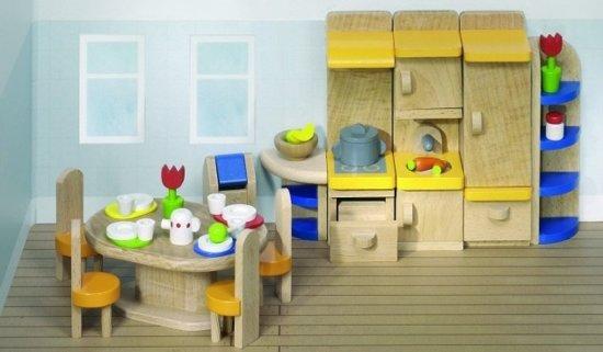Houten Keuken Speelgoed : Bol goki houten poppenhuis keuken delig goki speelgoed