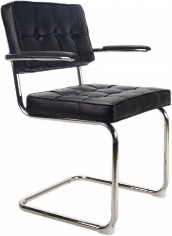 Eetkamerstoel Bauhaus Zwart.Bol Com Tijdloze Eetkamerstoel Bauhaus Zwart Met Armleuning