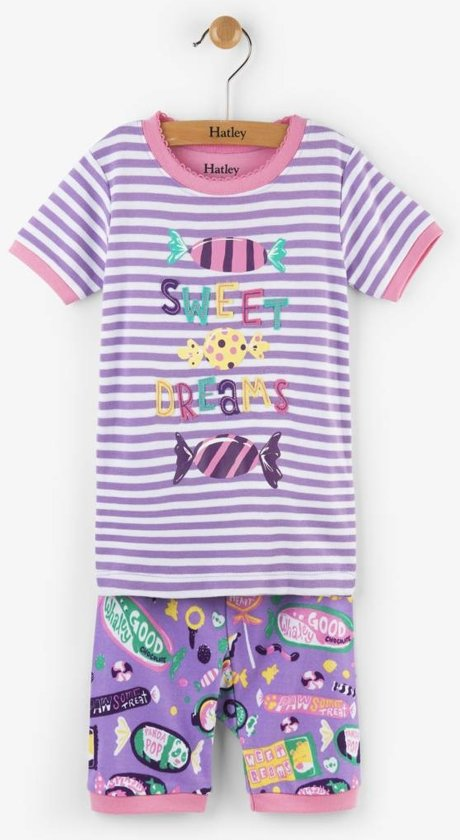 Hatley 2-delige korte pyjama Kitty candy - 98