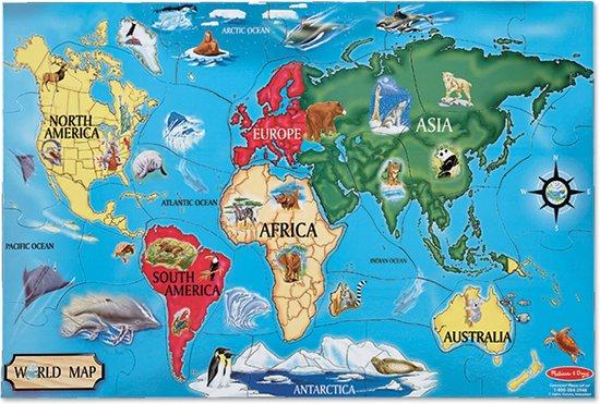 Melissa & Doug - World Map - Vloerpuzzel