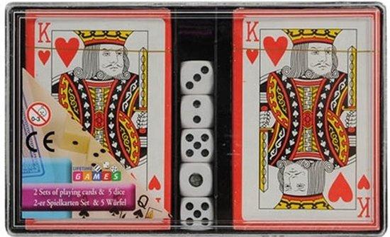 Afbeelding van het spel Amigo Speelkaarten 2 Sets Met 5 Dobbelstenen