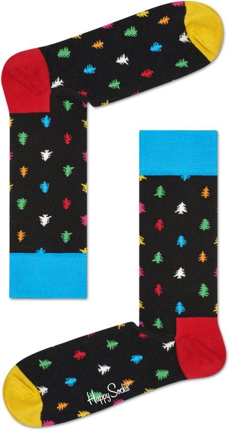 Happy Socks kerst sokken, kerstboom zwart 41-46