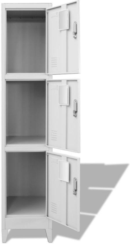 Bolcom Lockerkast Met 3 Planken 38x45x180 Cm Locker