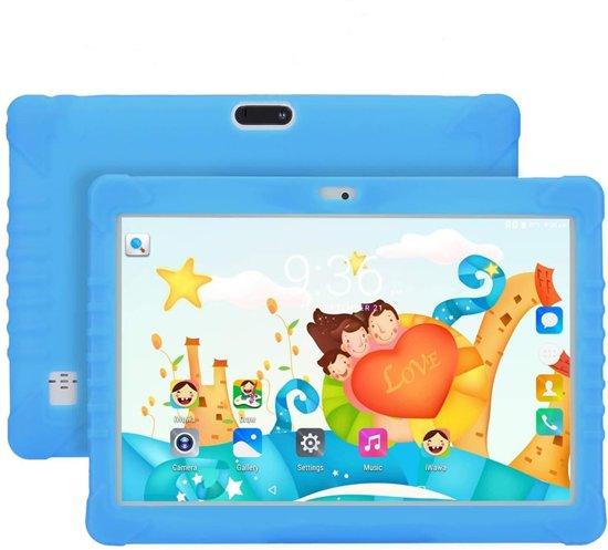 Maoo Premium Kindertablet – Snelle Processor – 32GB geheugen & 2GB RAM – Hoesje met Standaard - Blauw