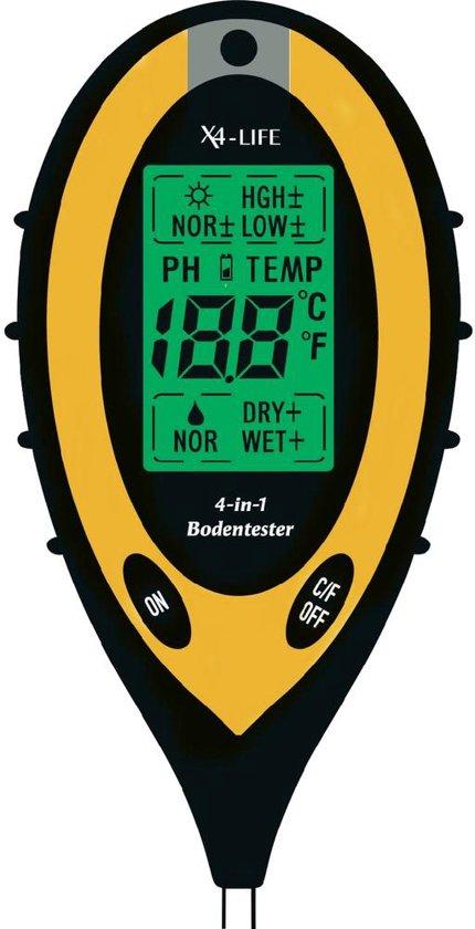 X4-LIFE 4in1 Bodemtester digitale grondmeter