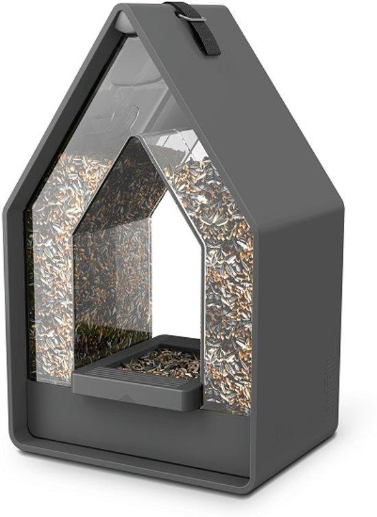 Emsa Landhaus Dispenser - Vogelvoederhuisje - Antraciet - 15.1 cm x 10 cm x 24 cm