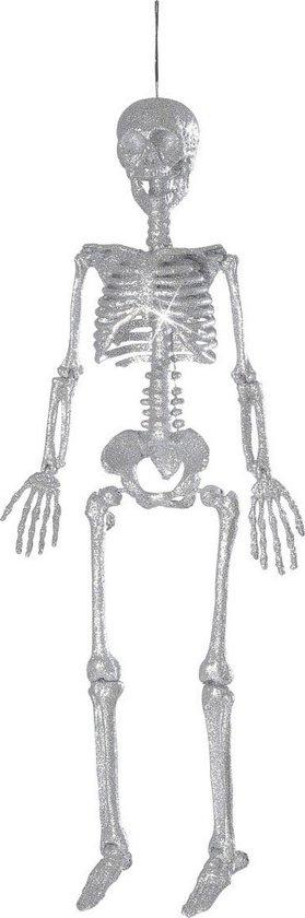 """""""Zilverkleurig skelet decoratie Halloween  - Feestdecoratievoorwerp - One size"""""""