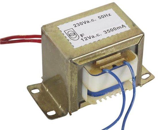 OPEN-CHASSIS TRANSFORMATOR 42VA 1 x 12V 3500mA (112042C)