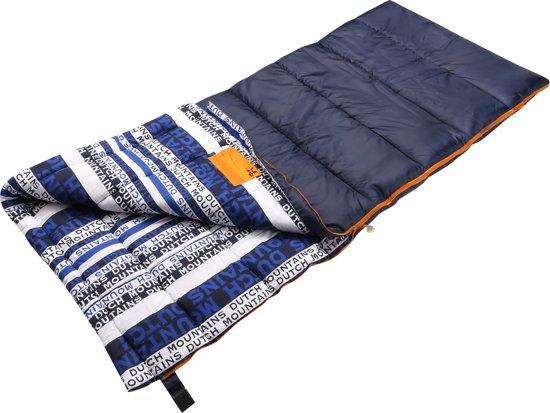 Dutch Mountains - slaapzak XL Goeree - Grote polykatoenen 220 x 90cm - incl tochtstrip en tasje - aanritsbaar