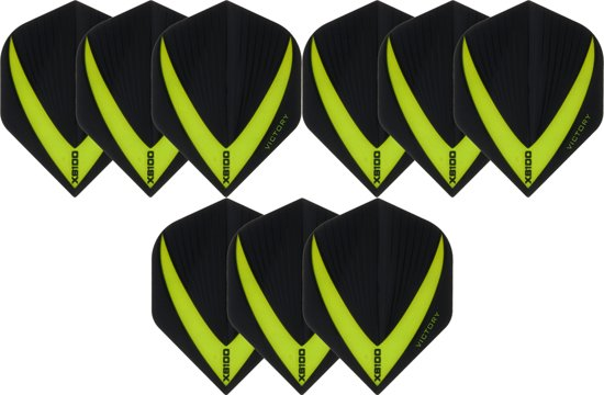 Dragon darts 3 sets (9 stuks) Super Sterke - Groene - Vista-X - flights - darts flights