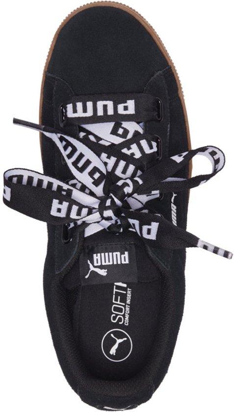 Vikky Ribbon Black Puma Sneakers Platform Maat black Bold 40 Dames H6qwd1q