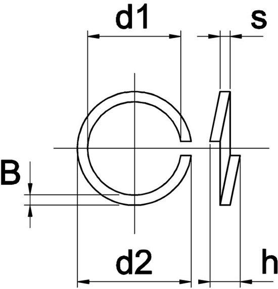 RVS Veerring D127 A2 M4 200 stuks