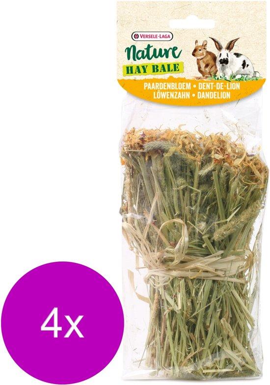 Versele-Laga Nature Snack Hay Bale Dandelion - Ruwvoer - 4 x Paardebloem 70 g