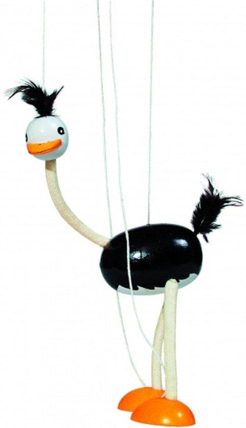 Goki Marionet struisvogel 33cm