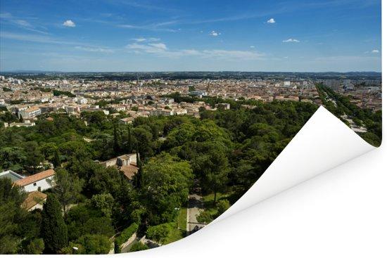Uitzicht over de Franse stad Nîmes Poster 60x40 cm - Foto print op Poster (wanddecoratie woonkamer / slaapkamer) / Europese steden Poster