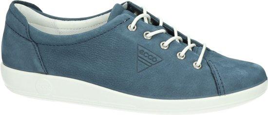 Ecco Soft 2.0 dames sneaker Donker blauw Maat 41