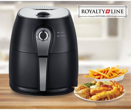Royalty Line hetelucht friteuse Deluxe- Zwart