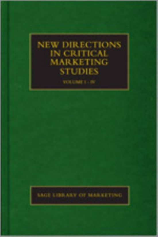 New Directions in Critical Marketing Studies