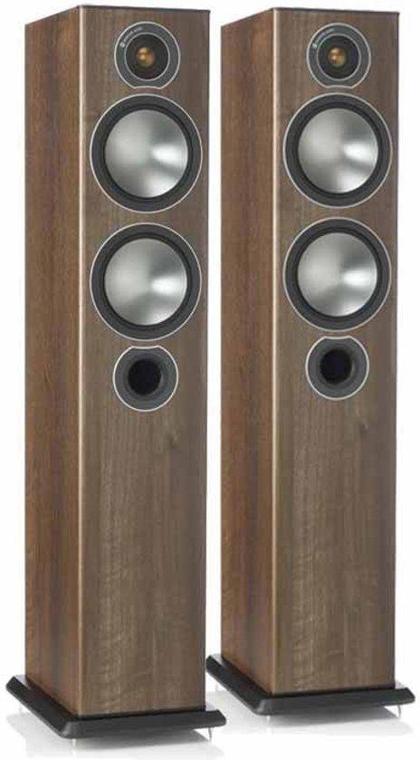 Monitor Audio Bronze 5 - Vloerstaande Luidspreker - Walnoot
