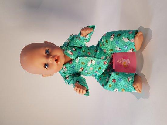 B-Merk Baby Born pyjama groen, broekje en vestje