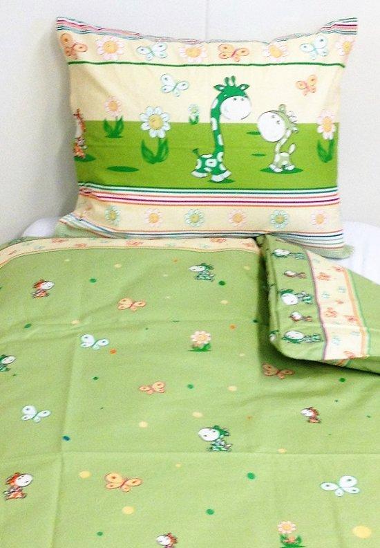 Lotte & Julius dekbedovertrek Peuterdekbedovertrek - Giraf groen 120x150 cm