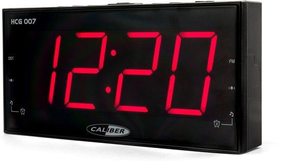 Caliber HCG007 - Wekkerradio met groot display - Zwart