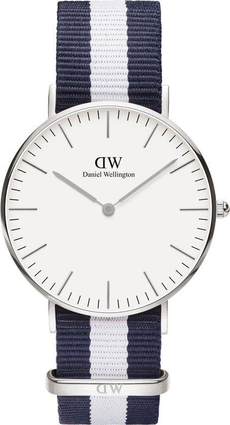 Daniel Wellington Classic Glasgow DW00100047 - Horloge - Blauw/Wit - Ø 36 mm