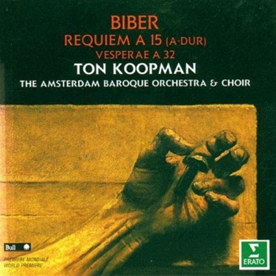 Biber: Requiem a 15, etc / Koopman, Amsterdam Baroque