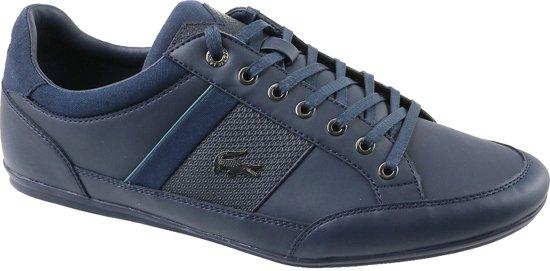 Lacoste Chaymon 118 1 CAM00112S3, Mannen, Blauw, Sneakers maat: 45 EU