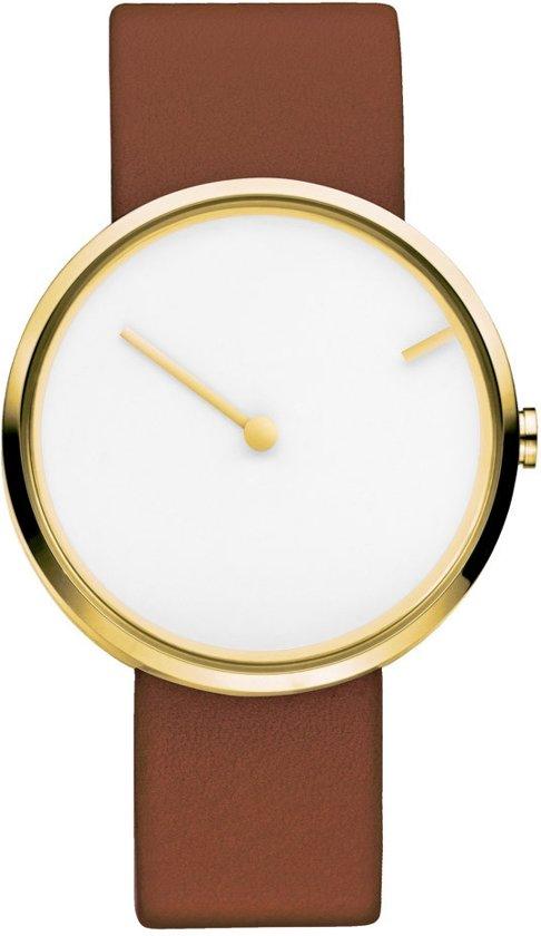 Jacob Jensen 254 horloge dames en heren - bruin - edelstaal doubl�