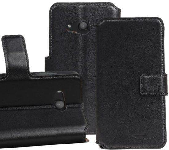 GALATA® echt lederen wallet case - booktype voor Microsoft Lumia 650 hoesje - Zwart in Klein-Dochteren
