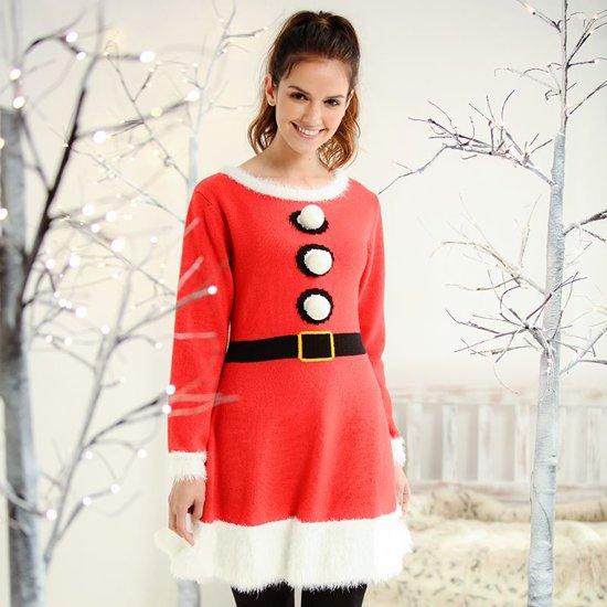 Kerst Jurk M.Kerstmis Jurkje Schattig Gebreid Jurkje Voor Tijdens De Kerst Maat M