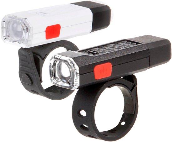 Ikzi Goodnight Twin - Fietsverlichtingsset - Led - USB Oplaadbaar - Zwart