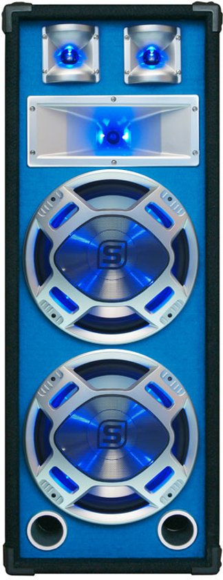 SkyTec Disco Witte Speaker 2x 8 600w Led