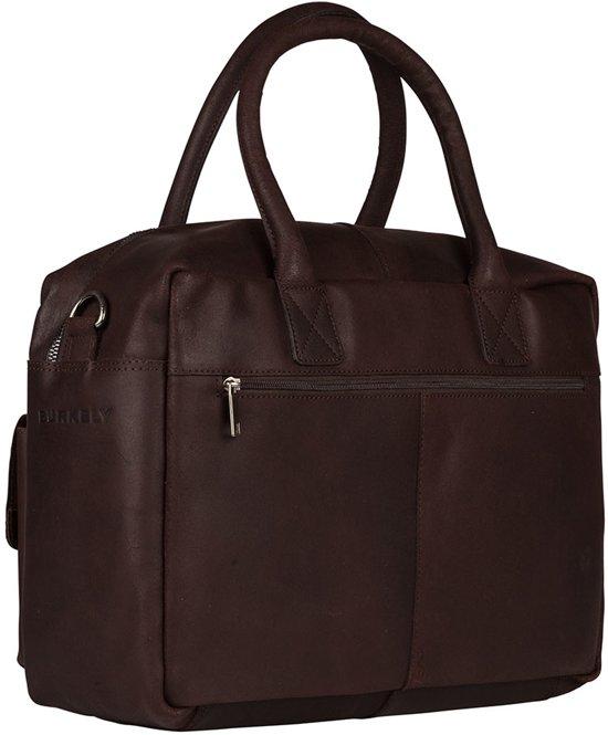2b1de67603a bol.com | BURKELY Finn Vintage Business 792322 - Schoudertas - Donker bruin