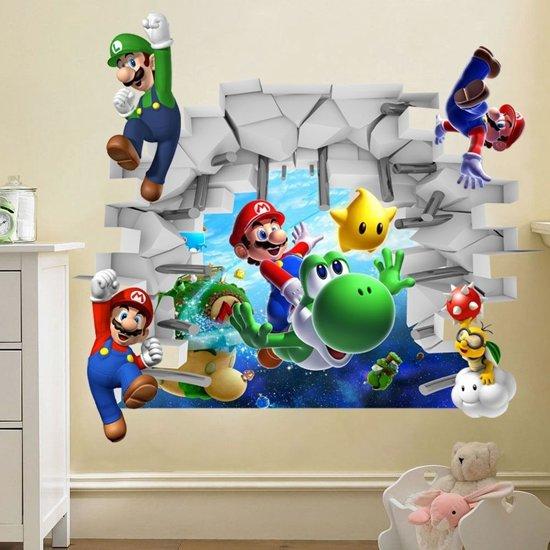 Stickers Voor Op De Muur Kinderkamer.Mario Kinderkamer 3d Muur Sticker