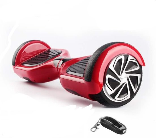 The Scootershop HOVERBOARD 6,5 inch, TAOTAO print, 350W, ROOD, SAMSUNG  accu, incl Afstandbediening