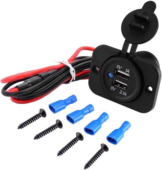 Uitgelezene bol.com | MMOBIEL Universele Waterproof 12v autolader 2 USB YV-84