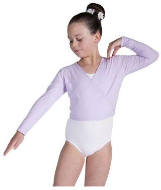 Balletvestje Overslag Tricot Lila - Maat  134/140
