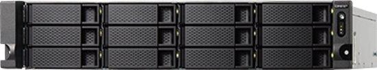 12-bay rackmount NAS AMD RX-421ND 64GB DDR4 2xM.2 2280/2260 SATA slots 4xGbE LAN