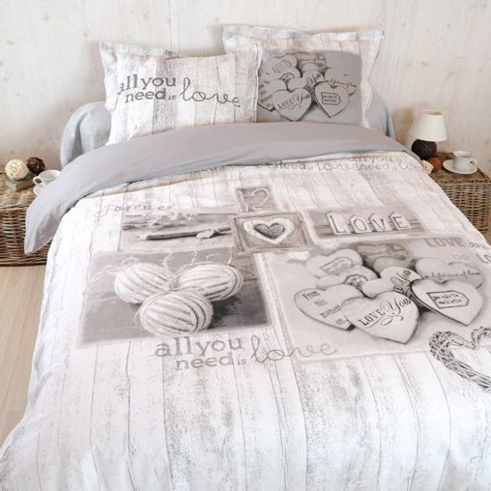 Cotton Club Dekbedovertrek Loved -  Lits Jumeaux - 240x200/220 cm + 2 kussenslopen 60 x 70 cm