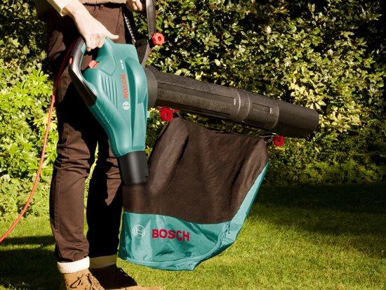 Bosch ALS 25 Bladblazer met verzamelbak en handschoenen