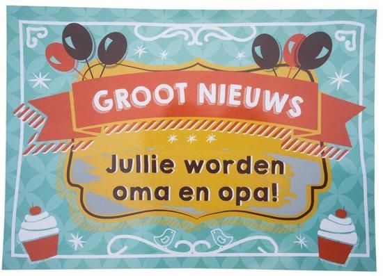 Uitzonderlijk bol.com | Kraskaart - Jullie worden Opa en Oma! - Balloons &VG42